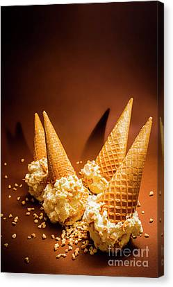 Nuts Over Ice-cream. Birthday Party Background Canvas Print by Jorgo Photography - Wall Art Gallery