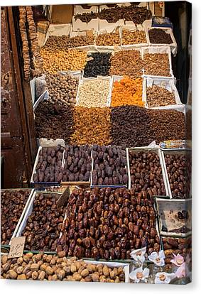 Nuts With Dates And Dried Fruit Canvas Print by Panoramic Images