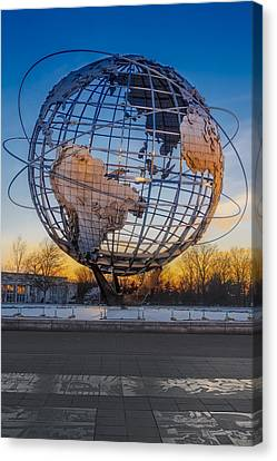 Ny Worlds Fair Unisphere Canvas Print by Susan Candelario