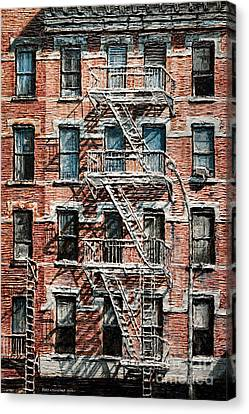 N Y C Apartment On 9th Ave Canvas Print by Joey Agbayani