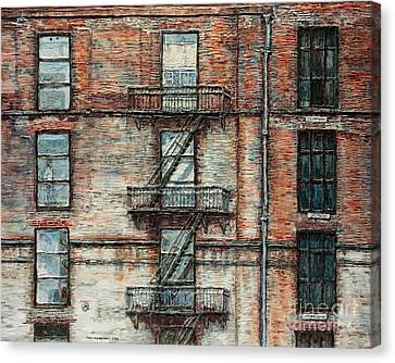 N Y C   Apartment On West 28th  Canvas Print by Joey Agbayani