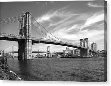 Nyc Brooklyn Bridge Canvas Print by Mike McGlothlen