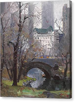 Nyc Central Park Canvas Print by Ylli Haruni