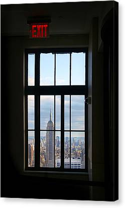 Nyc Exit Canvas Print by Nina Papiorek