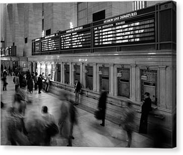 Nyc Grand Central Station Canvas Print by Nina Papiorek