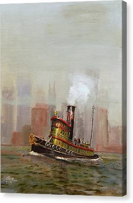 Nyc Tug Canvas Print by Christopher Jenkins