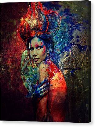 Nymph Of Creativity 2 Canvas Print by Lilia D