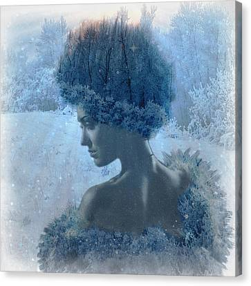Nymph Of January Canvas Print by Lilia D