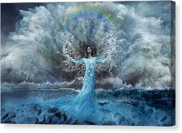 Nymph Of  The Water Canvas Print by Lilia D