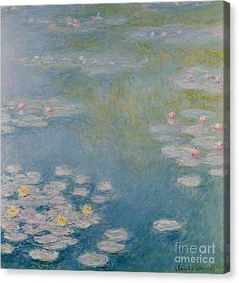 Nympheas At Giverny Canvas Print by Claude Monet
