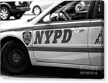 Nypd Canvas Print by John Rizzuto