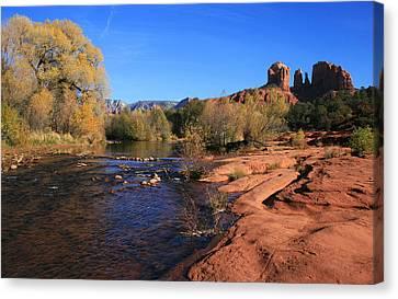Oak Creek Autumn Canvas Print by Gary Kaylor
