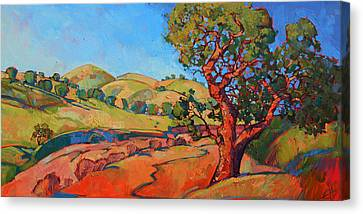 Oak In The Wash Canvas Print by Erin Hanson
