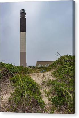 Oak Island Lighthouse Canvas Print by Capt Gerry Hare