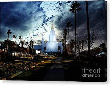 Oakland California Temple . The Church Of Jesus Christ Of Latter-day Saints Canvas Print by Wingsdomain Art and Photography