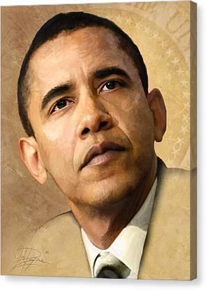 Obama Canvas Print by Joel Payne