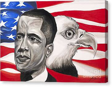 Obama Canvas Print by Keith  Thurman