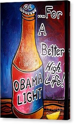 Obama Light Canvas Print by Oscar Galvan