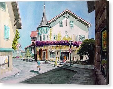 Oberammergau Street Canvas Print by Sam Sidders
