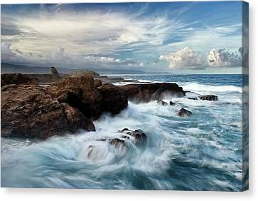 Ocean Brushes Canvas Print by Kieran OConnor