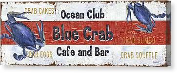 Ocean Club Cafe Canvas Print by Debbie DeWitt