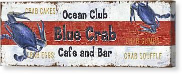 Ocean Club Cafe Canvas Print by Debbie DeWitt