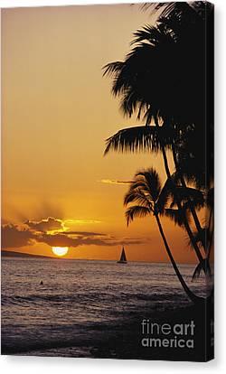 Ocean Sunset Canvas Print by Erik Aeder - Printscapes