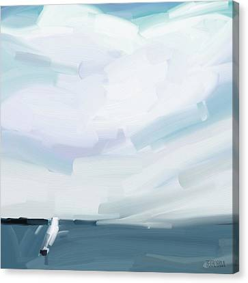 Ocean View From Fire Island Canvas Print by Beverly Brown Prints