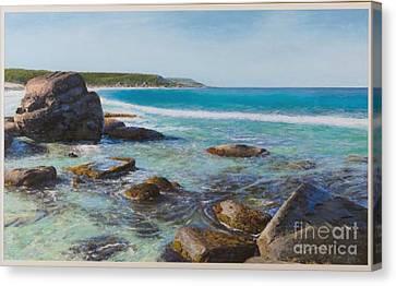 Oceans Edge Canvas Print by Gary Leathendale