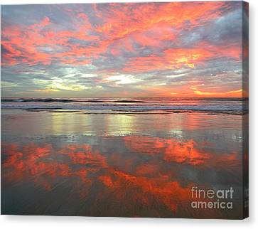 Reflections In Blue   Canvas Print by John F Tsumas