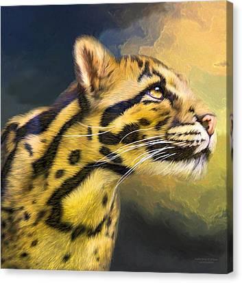 Ocelot - Spirit Of Solitude  Canvas Print by Carol Cavalaris