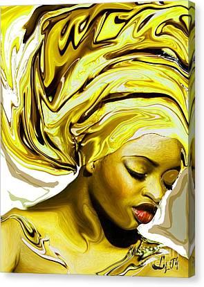 Ochun Ede Canvas Print by Liz Loz