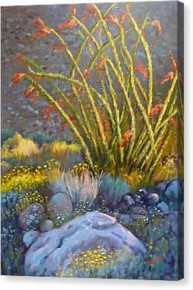 Ocotillo At Dusk Canvas Print by Bonita Waitl