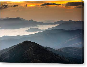 October Mountain Canvas Print by Evgeni Dinev