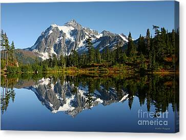 October Reflection Canvas Print by Winston Rockwell