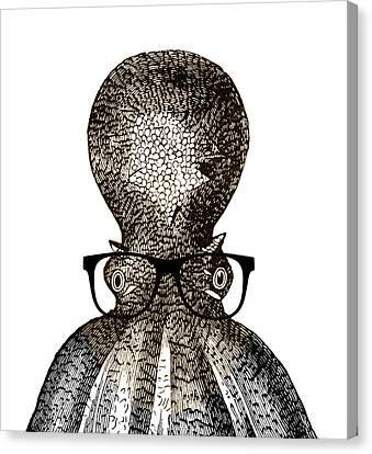 Octopus Head Canvas Print by Frank Tschakert