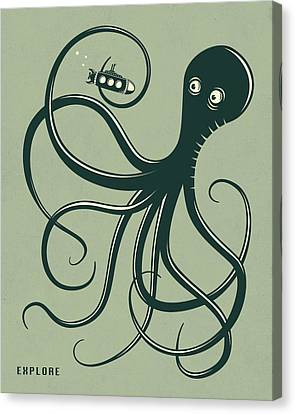 Octopus Canvas Print by Jazzberry Blue