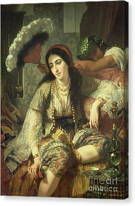 Odalisque Canvas Print by Jean Baptiste Ange Tissier