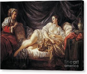 Odalisque  Turkish Slave Canvas Print by Jean-Baptiste Le Prince