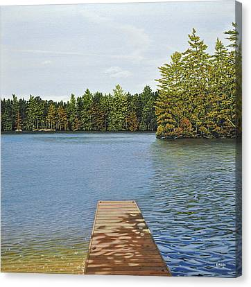 Off The Dock Canvas Print by Kenneth M  Kirsch
