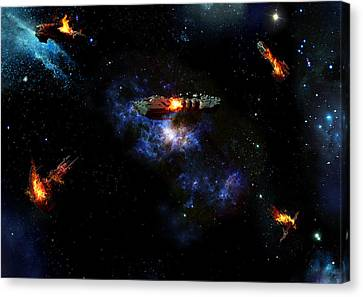 Off The Shoulder Of Orion Canvas Print by Joseph Soiza