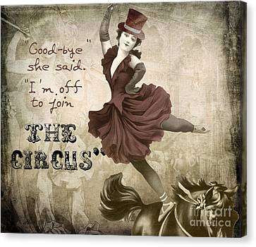 Off To Join The Circus Canvas Print by Mindy Sommers