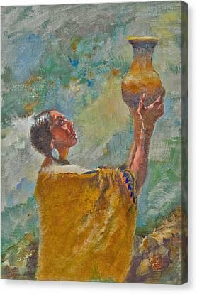 Offering Canvas Print by Ellen Dreibelbis