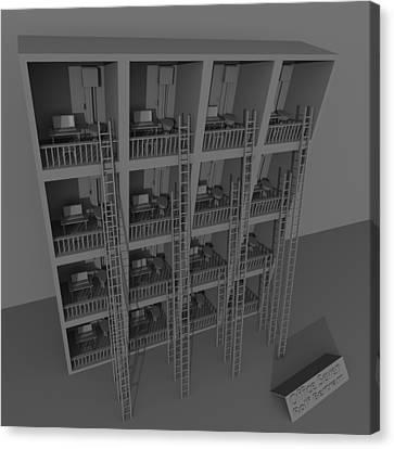 Office Seven Canvas Print by Rolf Bertram