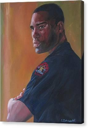 Officer Canvas Print by Connie Schaertl