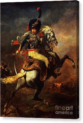 Officer Of The Hussars Canvas Print by Theodore Gericault