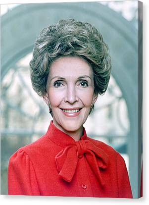Official Portrait Of First Lady Nancy Canvas Print by Everett