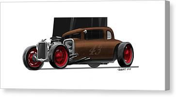 Og Hot Rod Canvas Print by Jeremy Lacy