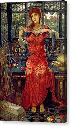 Oh Swallow Swallow Canvas Print by John Melhuish Strudwick