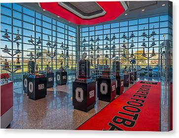 Ohio State Football Trophy Collection Canvas Print by Scott McGuire